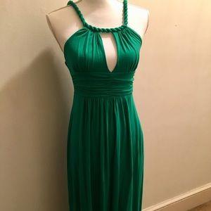 🌺 Women's beautiful green sexy dress EUC🌺